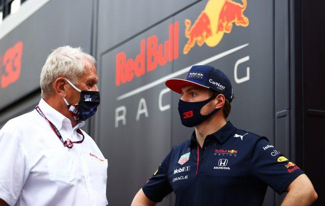 2021年F1第14戦イタリアGP マックス・フェルスタッペン(レッドブル・ホンダ)とヘルムート・マルコ(モータースポーツコンサルタント)
