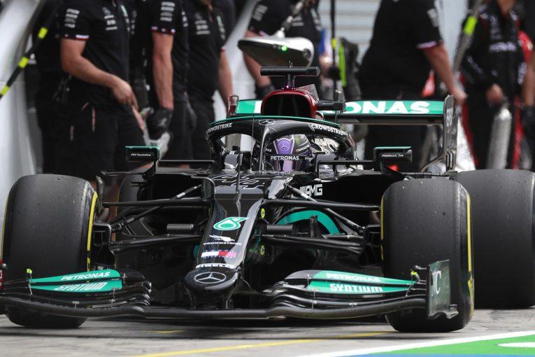 F1 | メルセデスF1、ハミルトンのPU交換について検討中「ペナルティを回避できる可能性はあるが、リスクは冒したくない」