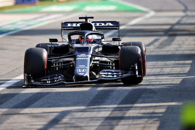 2021年F1第14戦イタリアGPスプリント予選 角田裕毅(アルファタウリ・ホンダ)、接触でフロントウイングが破損
