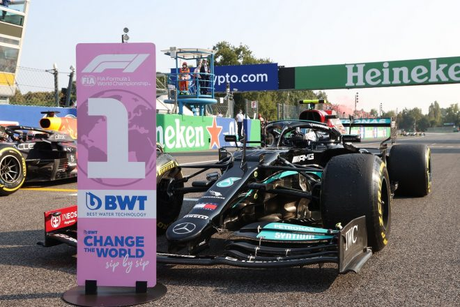 2021年F1第14戦イタリアGP バルテリ・ボッタス(メルセデス)がスプリント予選で勝利