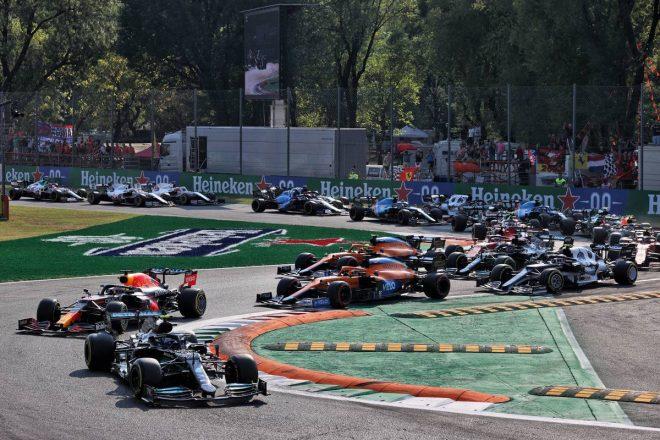 2021年F1第14戦イタリアGPスプリント予選 スタートシーン