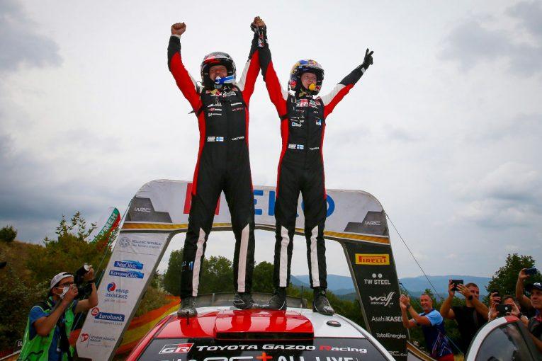 ラリー/WRC   カッレ・ロバンペラが独走で今季2勝目。8年ぶり開催のWRC第9戦アクロポリス・ラリー制す