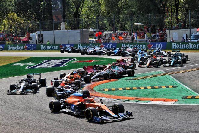2021年F1第14戦イタリアGP スタートシーン