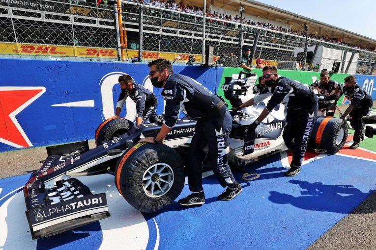 F1   【角田裕毅F1第14戦密着】イタリアGPはブレーキトラブルで走れずに終わるも「来てよかった」と父・信彰さん