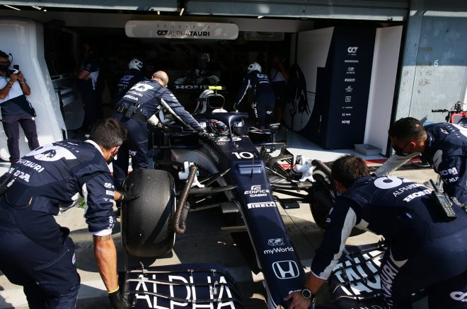 2021年F1第14戦イタリアGP ピエール・ガスリー(アルファタウリ・ホンダ)がリタイア