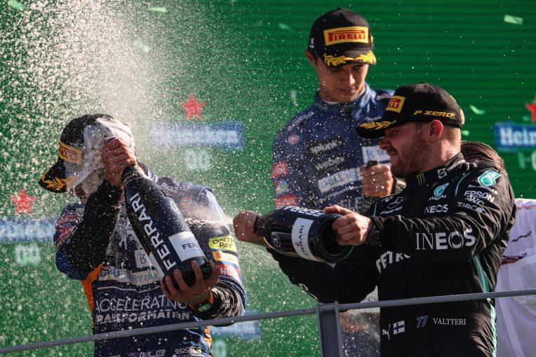F1   ボッタス19番グリッドから3位「約束どおり、表彰台に上ってみせた」メルセデス/F1第14戦