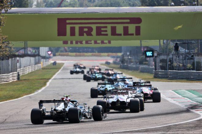 2021年F1第14戦イタリアGP グリッド最後方からスタートしたバルテリ・ボッタス(メルセデス)