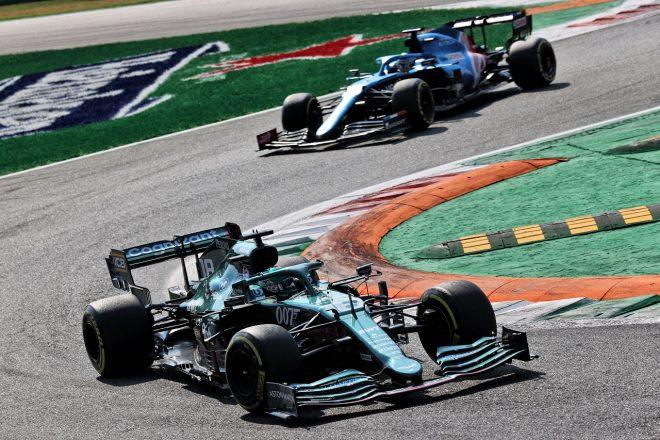 2021年F1第14戦イタリアGP ランス・ストロール(アストンマーティン)