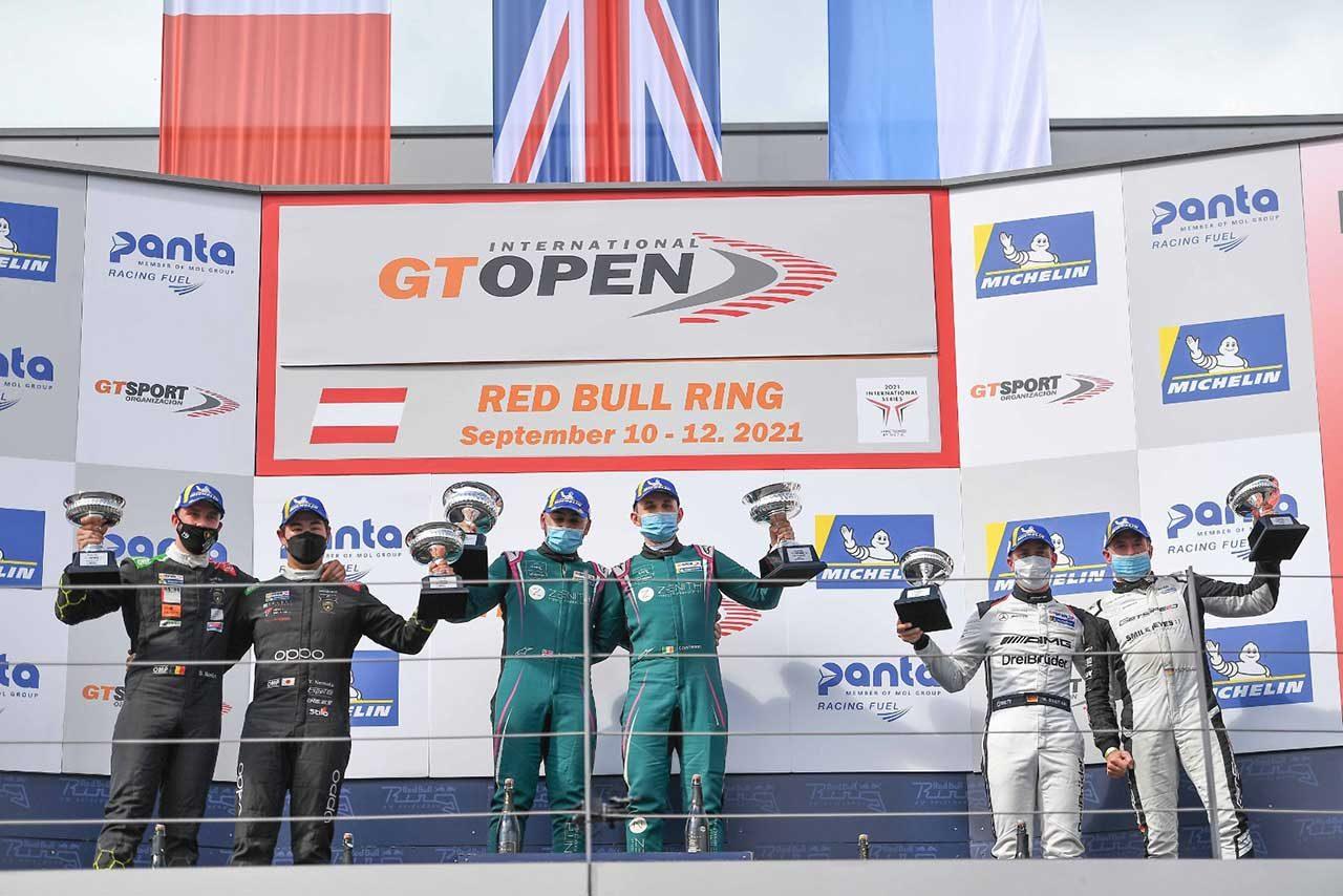 2021インターナショナルGTオープン第5戦レース2表彰台