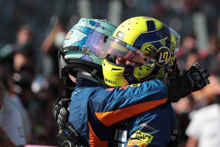 F1   「僕自身のチャンスはこれからつかむ」リカルドに仕掛けずチームプレイに徹したノリス/F1第14戦