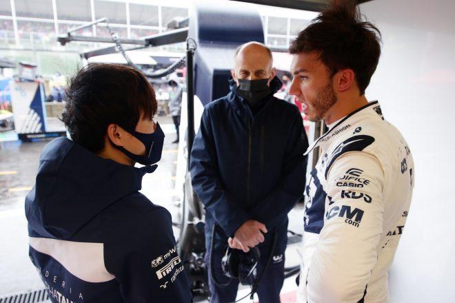 2021年F1第12戦ベルギーGP 角田裕毅、ピエール・ガスリー、フランツ・トスト代表(アルファタウリ・ホンダ)