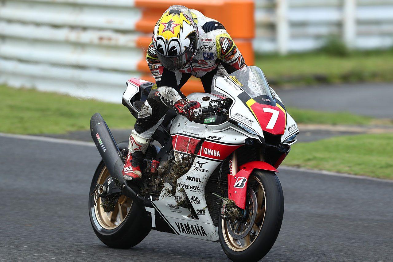 中須賀、転倒喫するもTカーでダブルポール「想定したタイムよりも遅いがよかった」/全日本ロード第7戦オートポリス JSB1000予選
