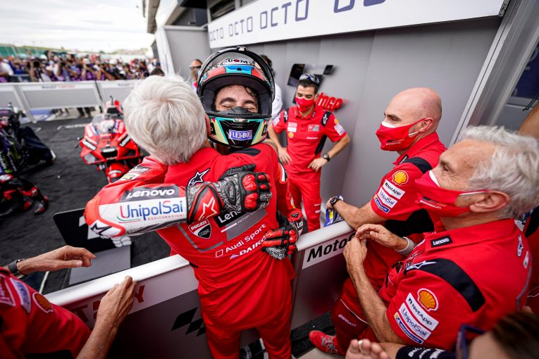 MotoGP | MotoGP第14戦サンマリノGP:バニャイアがポール・トゥ・ウインで2連勝。クアルタラロは0.364秒差の2位