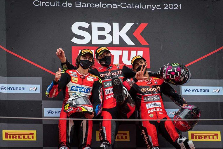 MotoGP   SBK第9戦カタルーニャ:ドゥカティがレース1で表彰台独占。チャンピオンシップリーダーのラズガットリオグルは未勝利に終わる