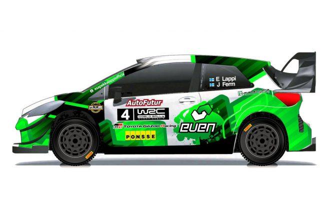 ラリー/WRC   ヤリスWRCでラリー・フィンランド参戦予定のラッピ、マシンのカラーリングを公開