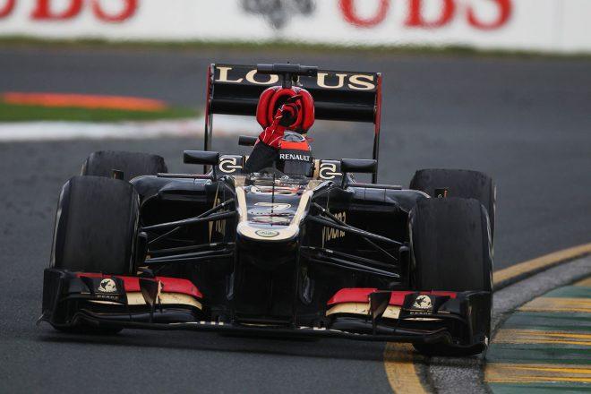 2013年オーストラリアGPで開幕戦優勝を果たしたキミ・ライコネン(ロータス)