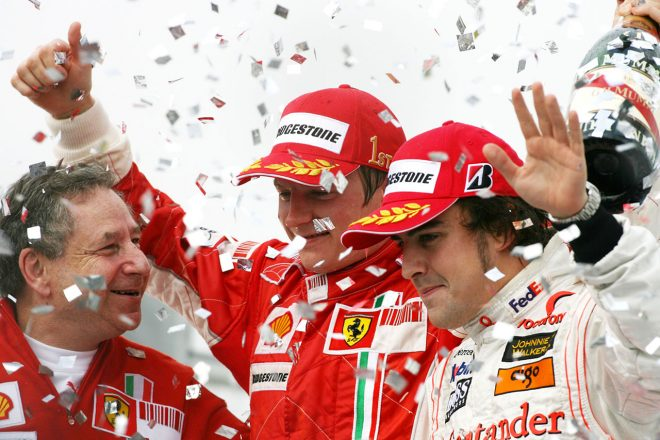 2007年ブラジルGP フェラーリ移籍初年度で初のチャンピオンを獲得したキミ・ライコネン