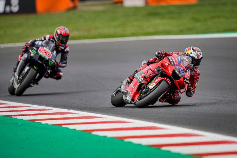 MotoGP   【レースフォーカス】2連勝のバニャイアに対し、ポイント差のダメージを最小限に抑えたクアルタラロ/MotoGP第14戦サンマリノGP