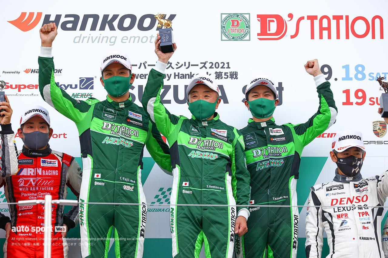スーパー耐久鈴鹿でダブルウイン&ST-X王座獲得。「今回決めたかった」D'station Racing最良の日に
