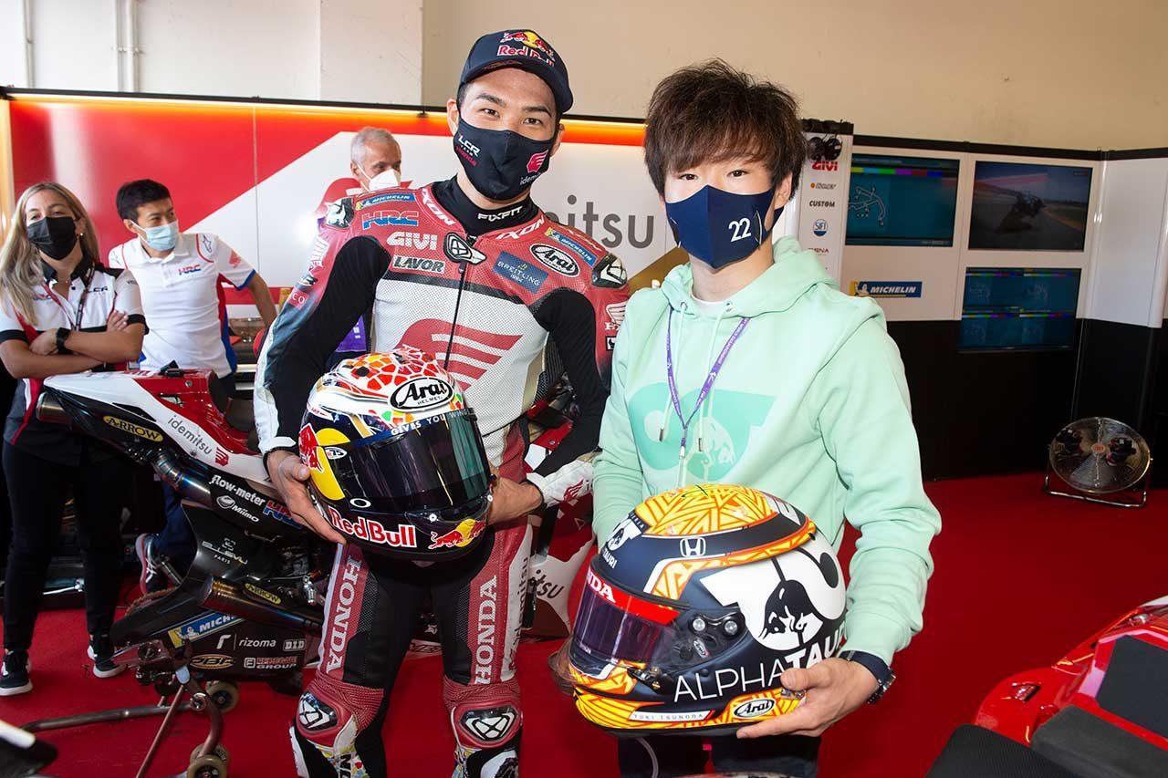 F1 | F1ドライバー角田裕毅がMotoGP初観戦。中上貴晶とカート対決やマルク・マルケスと会話を楽しむ