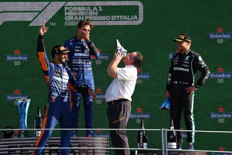 F1 | 【動画】マクラーレンF1、ワンツーフィニッシュを達成したイタリアGPの舞台裏