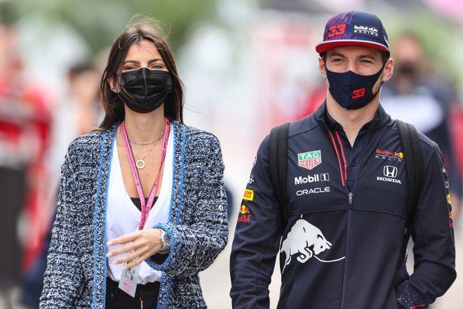 2021年F1第15戦ロシアGP マックス・フェルスタッペン(レッドブル・ホンダ)とガールフレンドのケリー・ピケ