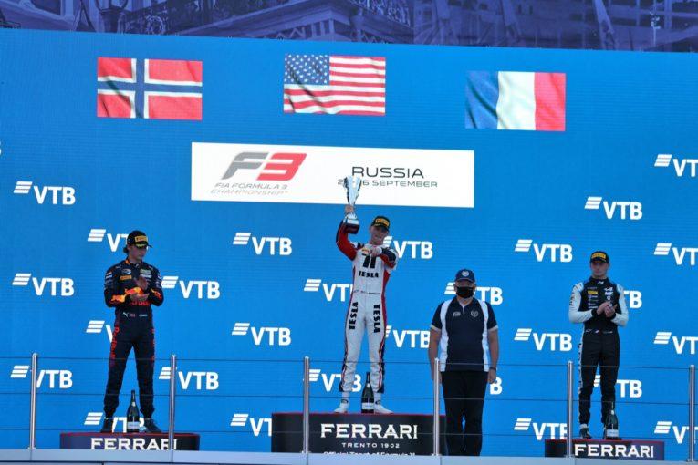 海外レース他   ハウガー戴冠。岩佐歩夢は8台抜きの10位、優勝はサージェント【FIA-F3第7戦ロシア レース1】