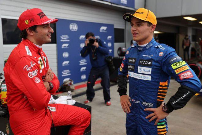 ランド・ノリス(マクラーレン)&カルロス・サインツJr.(フェラーリ)