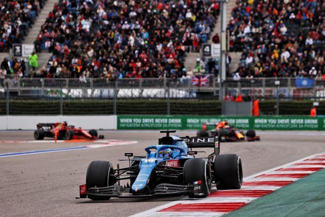 2021年F1第15戦ロシアGP フェルナンド・アロンソ(アルピーヌ)