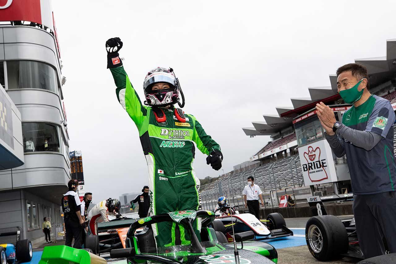 初優勝を飾った澤龍之介(D'station Racing F111/3)