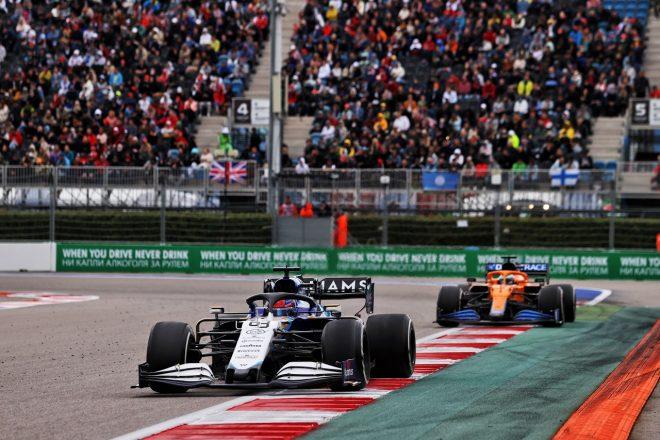 2021年F1第15戦ロシアGP ジョージ・ラッセル(ウイリアムズ)
