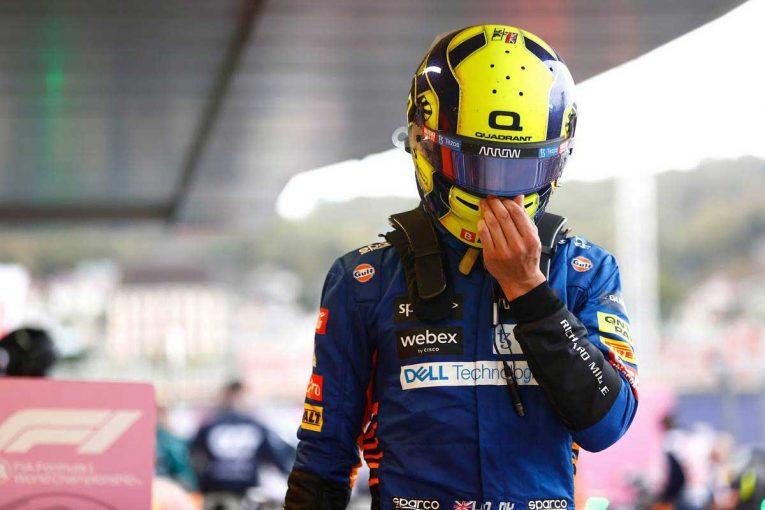 F1   【動画】ノリスのコースアウトに声を失うピットクルーたち/F1ロシアGP マクラーレンの裏側