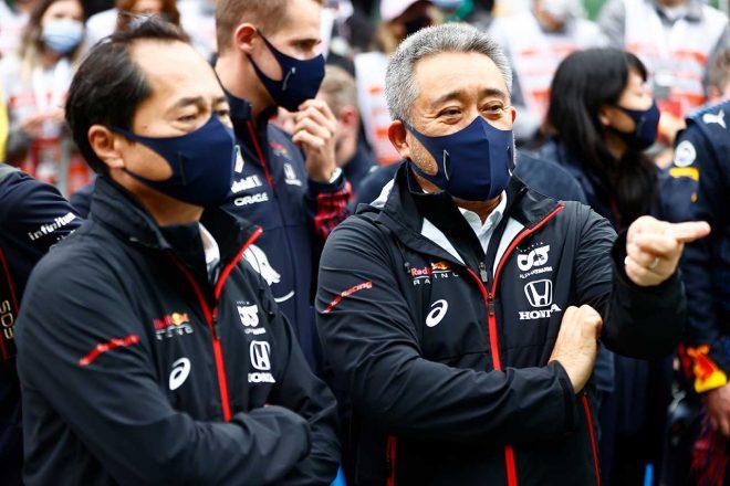 2021年F1第16戦トルコGP ホンダF1田辺豊治テクニカルディレクターと山本雅史マネージングディレクター