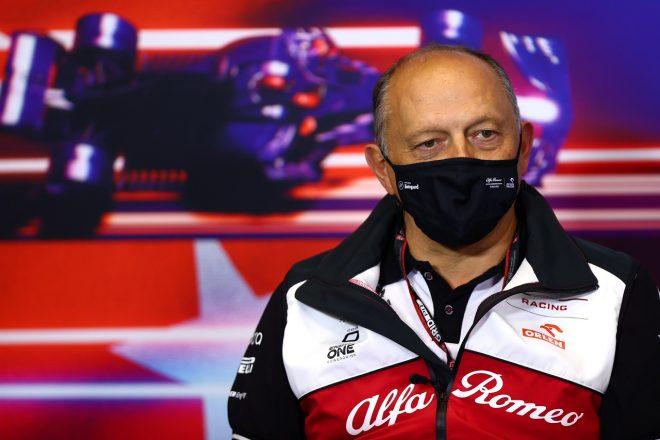 2021年F1トルコGP 記者会見に出席したフレデリック・バスール(アルファロメオ代表)